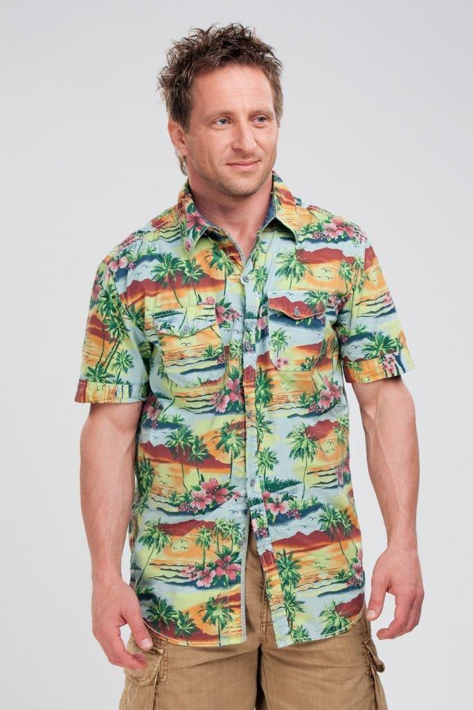 Рубашка с гавайским принтом