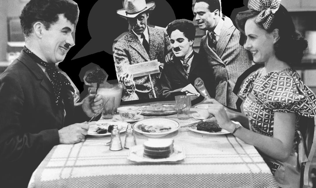 Кадр из комедии с участием Чарли Чаплина