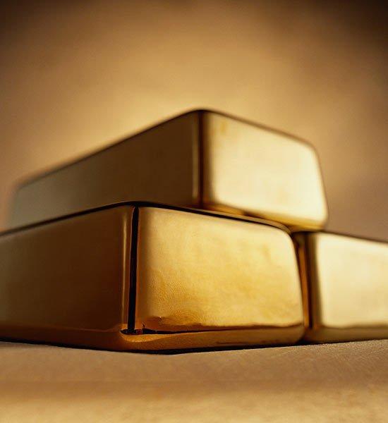 поддельные золотые слитки