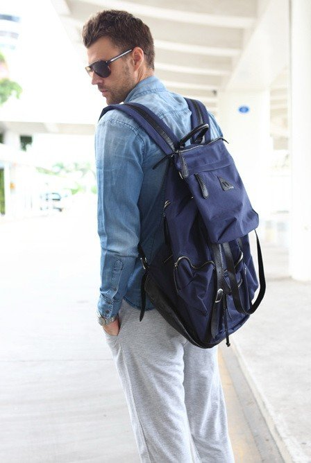 Картинки brodude.ru на тему мужских сумок. мужик с рюкзаком