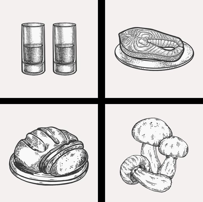 Закуска к водке, картинка мужского журнала brodude