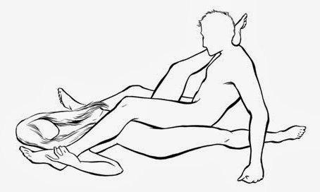 Картинки на тему необычные позы для секса. Х-образная позиция.