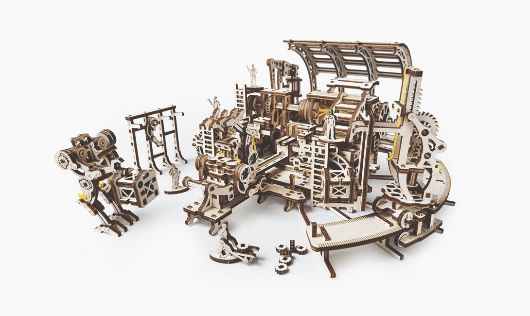 Деревянный конструктор Ugears фабрика роботов