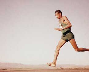 бег без обуви