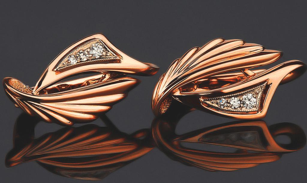 Золотые серьги, фото