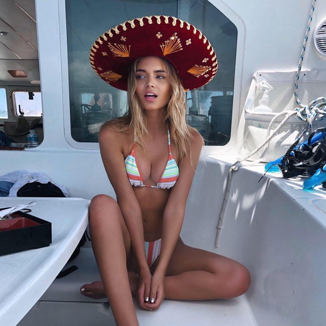 Морган Кетцнер в Мексике на яхте фото